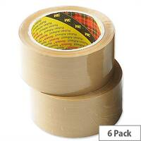Scotch Brown Packing Tape 50mm x 66m (Pack 6)