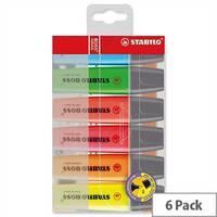 Stabilo Boss Highlighters Assorted Colour Pens Wallet Pack 6