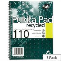 Pukka Pad A4 Notebook Recycled 100 Pages Pack 3