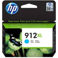 HP 912XL - 9.9 ml - High Yield - cyan - original - ink cartridge - for Officejet 8012, 8014, 8015; Officejet Pro 8022, 8024, 8025, 8035