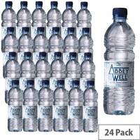 Abbey Well Natural Still Mineral Water Bottles 500ml Pack 24