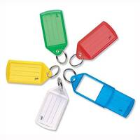 Key Hanger Sliding with Fob Label Area Tag Size Medium Assorted Pack of 10
