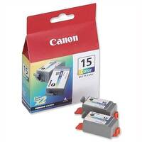 Canon BCI-15C Colour Ink Cartridge Twin Pack 8191A002