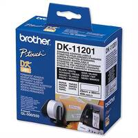 Brother DK11201 Address Label 29 x 90mm White Roll of 400