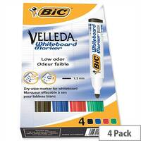 Bic Velleda 1701 Bullet Tip Assorted Whiteboard Markers (Pack of 4) 1199001704