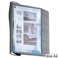A4 Literature Display Panels Wall Unit Contoured with Fixings and 10 Panels Durable Sherpa Style