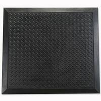 Mat Anti-fatigue Rubber Textured Anti-slip Bevelled-edge 700x800mm Ripple Pattern Pack of 2