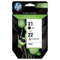 HP 21 and 22 Ink Cartridges Black and Colour Twin Pack SD367AE