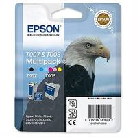 Epson T007/T008 Black and Colour Ink Cartridge Pack 2