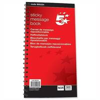 Telephone Message Book Wirebound Duplicate Sticky 320 Notes 80 Pages 5 Star