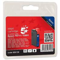 Epson T0711 Compatible Black Inkjet Cartridge Cheetah Series 5 Star C13T07114010