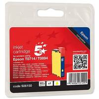 Epson T0714 Compatible Yellow Inkjet Cartridge Cheetah Series 5 Star OB71440/C13T07144010