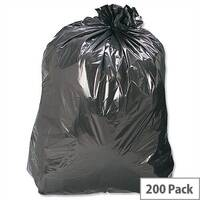 Refuse Sacks Heavy Duty 160 Gauge 110 Litre Capacity Black Box 200