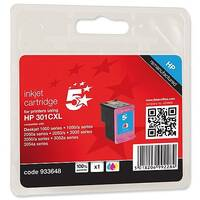 HP 301XL Compatible Tri-Colour Ink Cartridges CH564EE 5 Star