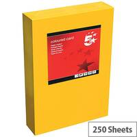 5 Star Office Deep Orange A4 Paper Multifunctional Coloured Card 160gsm 250 sheets