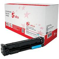 5 Star Office Remanufactured HP CF401A 201A Cyan Yield 1,400 Pages Laser Toner Cartridge