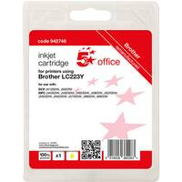 5 Star Office Remanufactured Inkjet Cartridge Page Life Yellow 550pp [Brother LC223Y Alternative]