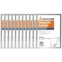 Announce Magnetic Frames A3 Silver Pack of 10 AA01845