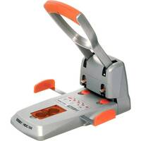 Rapid Supreme Heavy Duty Hole Punch HDC150/2-hole Silver &Orange