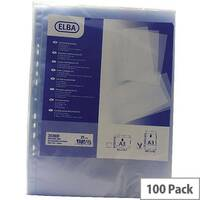 Elba Polypropylene Pocket A3 Upright Open Top Clear Pack of 100 100080921