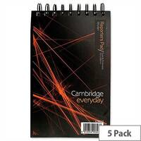 Cambridge Headbound Wirebound Notebook 200 x 125 Ruled 300 Pages Pack 5