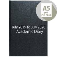 Collins A5 Academic Diary Day Per Page Appointment 2019-2020 Assorted 52M