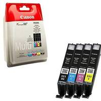 Canon CLI-551 Blistered With Security Inkjet Cartridge CMYK Pack of 4 6509B008
