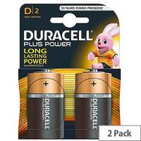 Duracell Plus Battery D Pk2 81275443