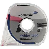 Legamaster Self-Adhesive Tape 2.5mm x16 Metres Black 4332-01