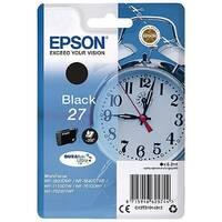 Epson Alarm Clock 27 Black Inkjet Cartridge (Pack of 1) C13T27014010 C13T27014012