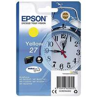 Epson Alarm Clock 27 Yellow Inkjet Cartridge (Pack of 1) C13T27044010 C13T27044012