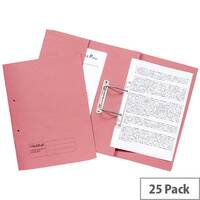 Guildhall Super Heavyweight Pocket Spiral File Pink 211/6006 Pack 25