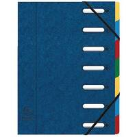 Exacompta Exactive Harmonika 7-Part File Blue 55072E