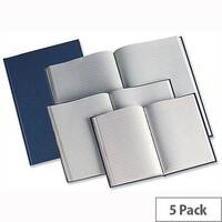 Whitebox A4 Manuscript Book H68819 Casebound 190 Pages Pack 5