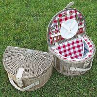 Classic Fitted Picnic Basket For Two