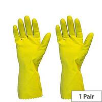 Shield Household Rubber Gloves Medium Yellow GR01Y