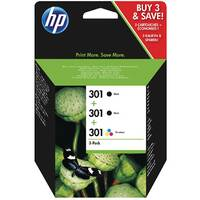 HP 301 Tri-pack Ink Cartridge Pack of 3 Black/Colour E5Y87EE