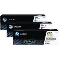 HP 201X High Yield Cyan Magenta Yellow LaserJet Toner Cartridge Pack of 3 CF253XM