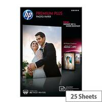 HP 10x15cm Premium Plus Photo Paper 300gsm Glossy (Pack of 25)