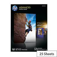 HP 13x18cm Advanced Glossy Photo Paper White (Pack of 25)