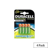 Duracell Multipurpose Battery 2400 mAh Nickel Metal Hydride (NiMH) 1.2 V DC 4 Pack