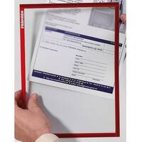 Franken Magnetic Document Holder ValueLine A5 Red ITSA5M 01