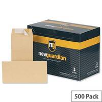 New Guardian DL Envelopes Heavyweight Pocket Peel and Seal Manilla 130gsm Pack of 500