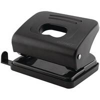 Q-Connect Medium Duty Hole Punch Black