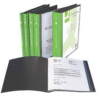 Q-Connect Presentation Display Book 10-Pocket Black