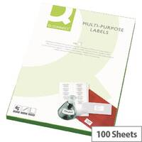 Q-Connect 2 Per Sheet Multi-Purpose Labels 199.6x143.5mm (200 Labels)