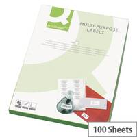 Q-Connect White Multipurpose Labels 139 x 99mm 4 Per Sheet Pack of 400