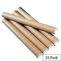 Brown Kraft 890x50mm Postal Tubes (25 Pack)