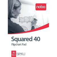 Nobo Squared Flipchart Pad A1 40 Sheet Pack of 5 34631166