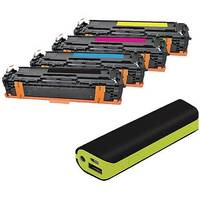 HP 131X Compatible 4 Colour Laser Toner Q-Connect CF210X With Free Reviva Powerbank